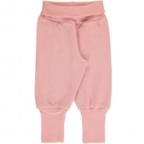 Maxomorra Solid Dusty Rose Rib Pants