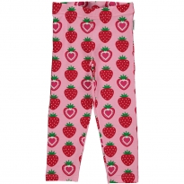 Maxomorra Strawberry Cropped Leggings