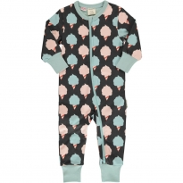 Maxomorra Sweet Cotton Candy LS Zip Rompersuit