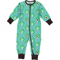 Maxomorra Tree Zip Romper