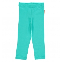 Maxomorra Turquoise Cropped Leggings