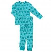 Maxomorra Turquoise Stars LS Pyjamas