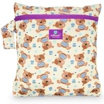 Milovia Nappy Wet Bags-Cute teddy