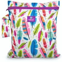 Milovia Nappy Wet Bags-Gorgeous Feathers