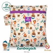 Milovia Nappy Wet Bags-Lumberjack