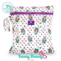 Milovia Nappy Wet Bags-Funny bunny