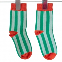 Moromini Striped Regular Socks - Green / Rust