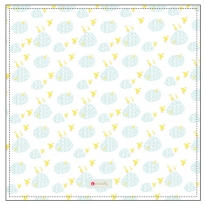 Piccalilly Puddle Duck Print Muslin Swaddle