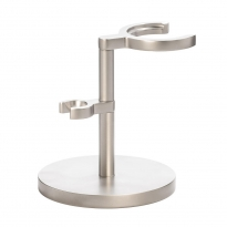MÜHLE Matt Stainless Steel Rocca Brush and Razor Stand