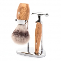 MÜHLE Kosmo 3 Piece Shaving Set - Olive Wood