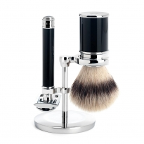 MÜHLE 3 Piece Shaving Set - Black Resin