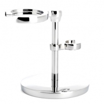 MÜHLE Chrome Traditional Safety Razor and Brush Stand