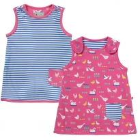 Piccalilly Bird Babble Reversible Dress