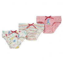 Piccalilly Bunny & Stripe Knickers x3