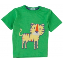 Piccalilly Tiger Applique SS T-Shirt