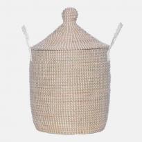 Olli Ella Neutra Lidded Medium Basket