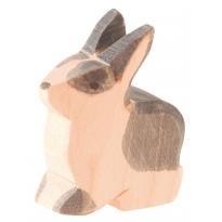 Ostheimer Black and White Sitting Rabbit