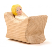 Ostheimer Child In Cradle - 2 Pieces
