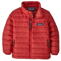 Patagonia Down Sweater Jacket - Fire w/Oxide Red