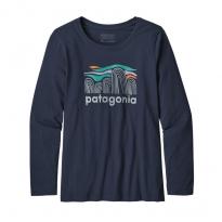 Patagonia LS Organic T-shirt - Fitz Roy Boulders: New Navy
