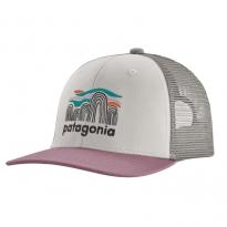 Patagonia Trucker Hat - Fitz Roy Boulders: White w/Verbena Purple