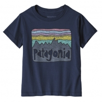 Patagonia Fitz Roy Skies Organic T-Shirt - New Navy