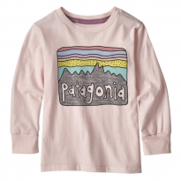 Patagonia Fitz Roy Skies Pink Graphic LS T-Shirt