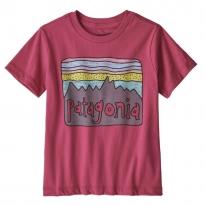Patagonia Fitz Roy Skies Organic T-Shirt - Reef Pink