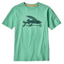 Patagonia Flying Fish Organic T-shirt - Vjosa Green
