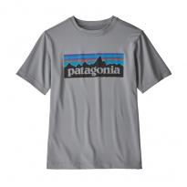 Patagonia Cap SW Graphic SS Organic T-shirt - P-6 Logo - Feather Grey