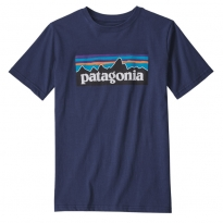 Patagonia P-6 Logo Organic T-shirt - New Navy