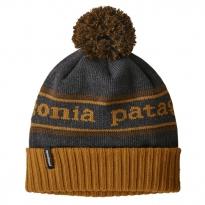 Patagonia Powder Town Beanie - Park Stripe: Hammonds Gold w/Owl Brown