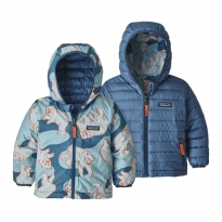 Patagonia Reversible Down Sweater Hoody - Polar Bear: Woolly Blue