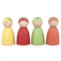 Peepul Fruit Peg Doll Set