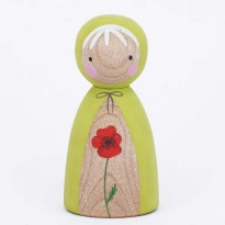 Peepul Red Poppy Peg Doll