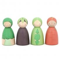 Peepul Vegetable Peg Doll Set