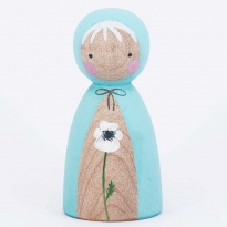 Peepul White Poppy Peg Doll