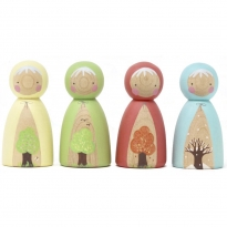 Peepul Four Seasons Peg Doll Set