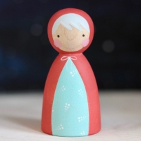 Peepul Mrs Claus Peg Doll