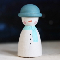 Peepul Snowman Peg Doll