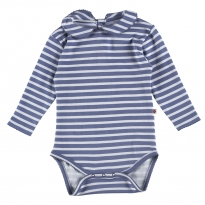 Piccalilly Marlin Stripe Baby Body