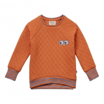 Piccalilly Adult Spicy Orange Quilted Sweatshirt