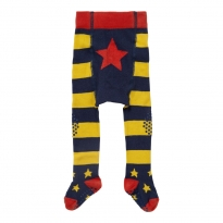 Piccalilly Blue & Yellow Crawler Tights
