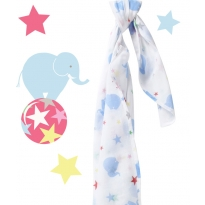 Piccalilly Retro Circus Elephant Muslin