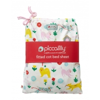 Piccalilly Dogs Day Cot Bed Sheet in a Bag