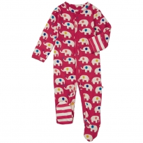 Piccalilly Elephant Footed Sleepsuit
