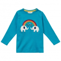 Piccalilly Elephant Long Sleeve Top