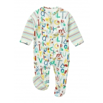 Piccalilly Alphabet Sleepsuit
