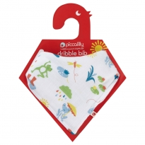 Piccalilly Jumping Frog Muslin Bandana Bib & Burp Cloth