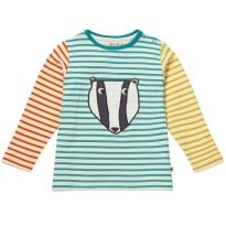 Piccalilly Badger Stripy Top